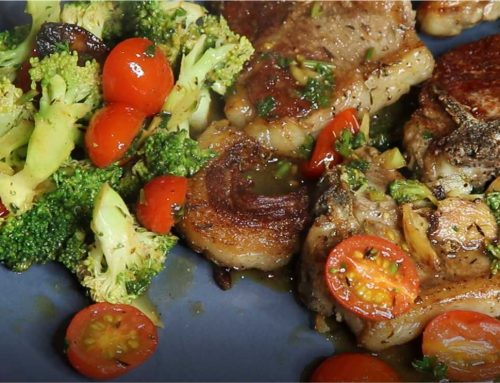 Garlic Lamb Loin Chops